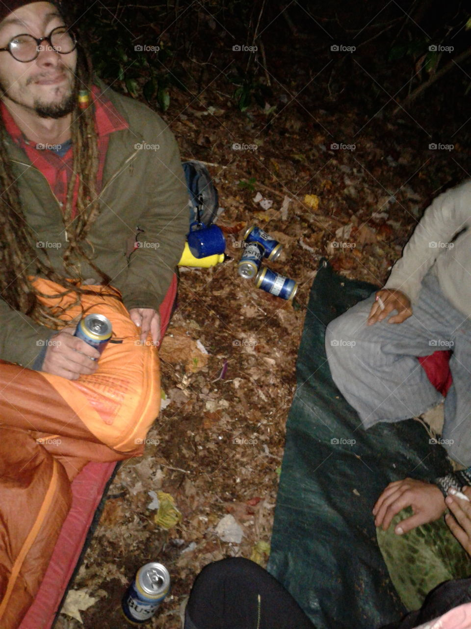 Warm beer and cold sleeping bags.