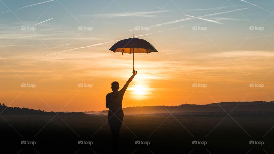 rainy sunrise