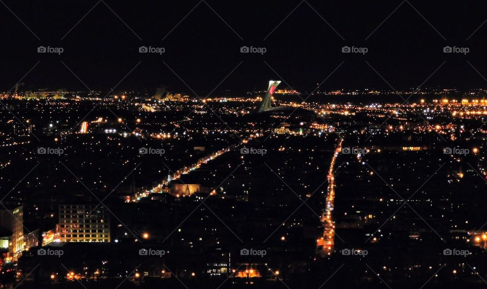 Montreal landscape at night