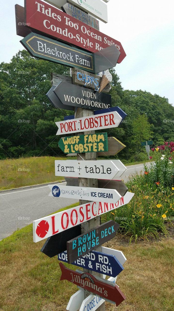 Directional local signs in Maine
