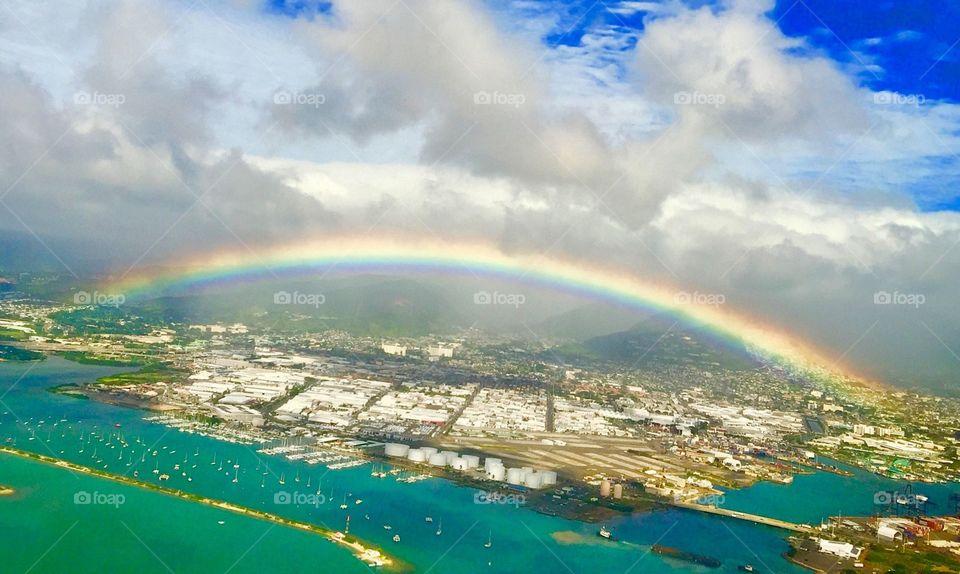 Rainbow over Hawaii