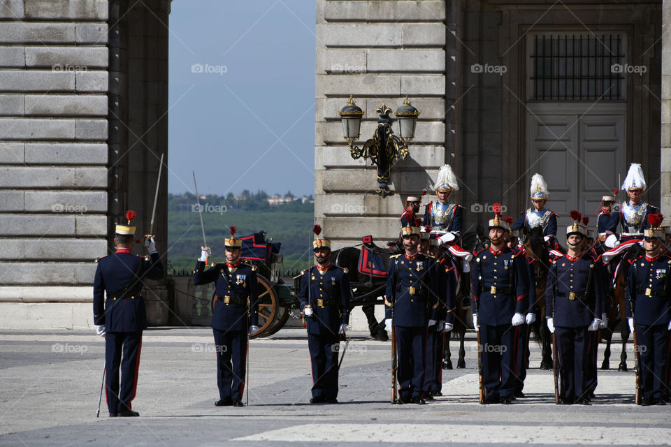 Cambio de guardia, Palacio Real, Madrid, España - Change of guard, Palacio Real, Madrid, Spain