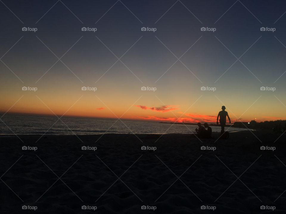 Sunset, Beach, Sea, Dawn, Water