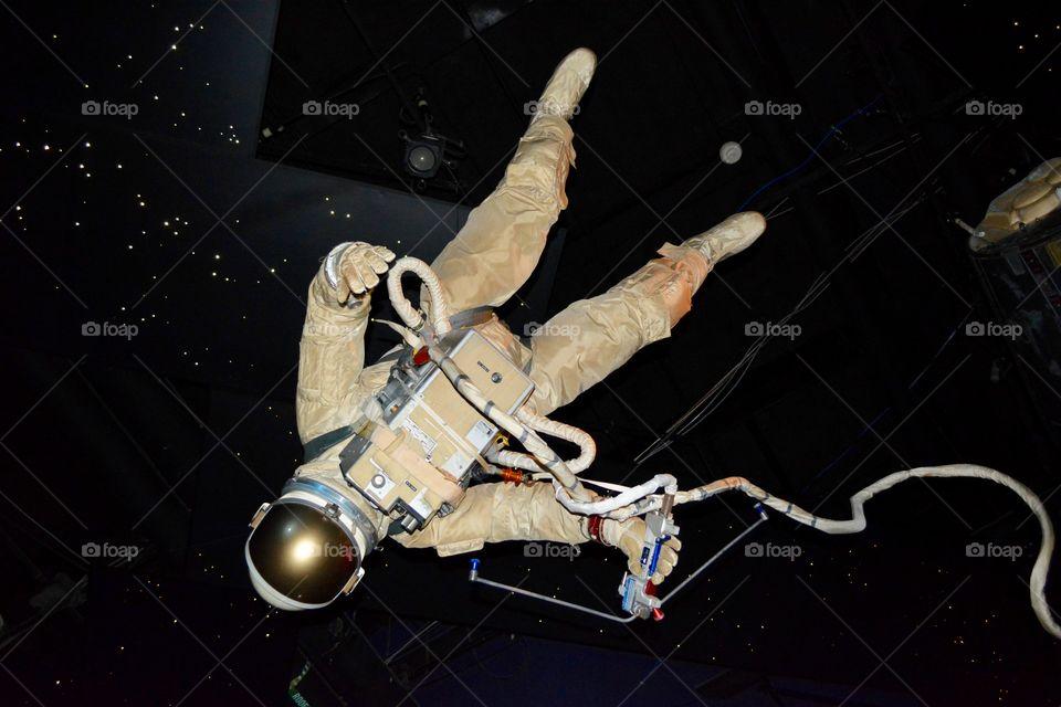 An astronaut figure we saw at NASA in Houston Texas