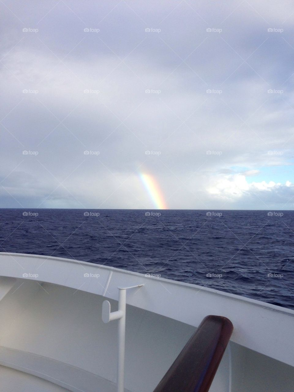 Rainbow in the ocean