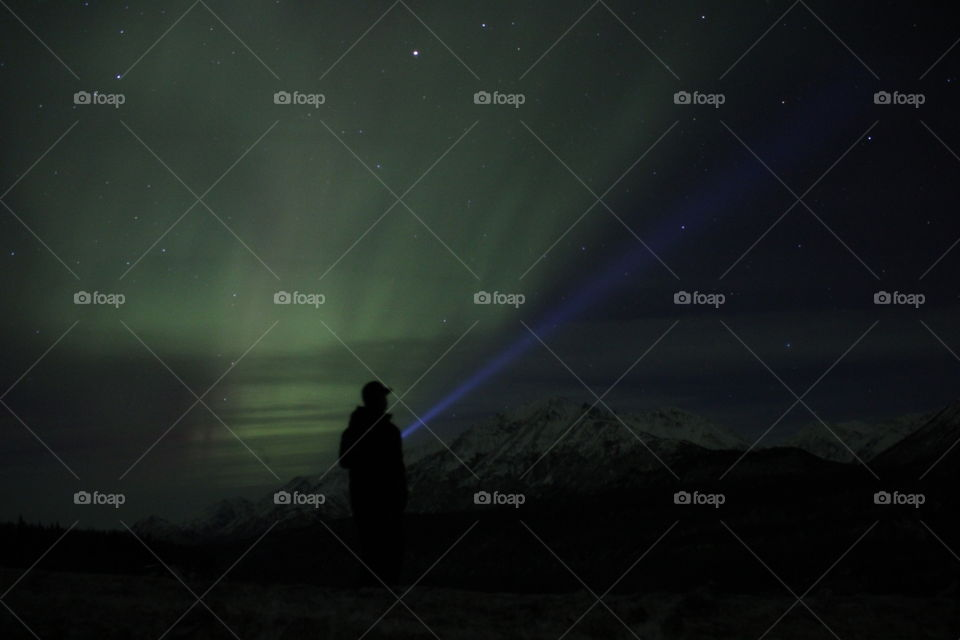 Aurora. Alaska Northern Lights