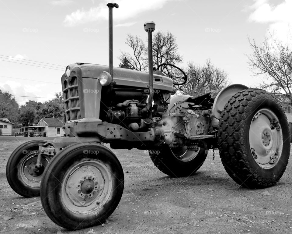 An old little tractor is still standing after years of hard work in Central Oregon.
