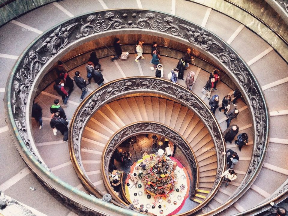 Famous Vatican Stairs