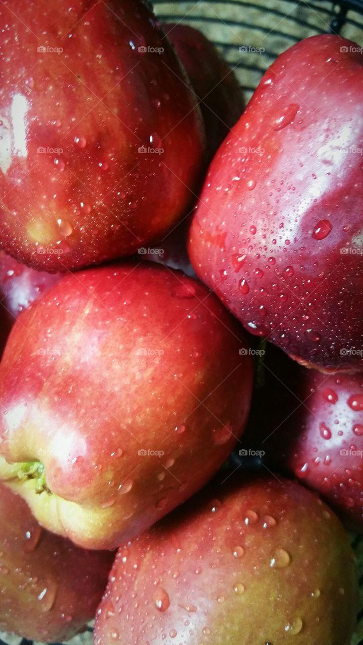 Freshly washed Apples