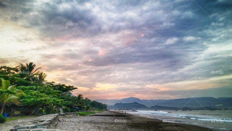 Scenic view of coastline