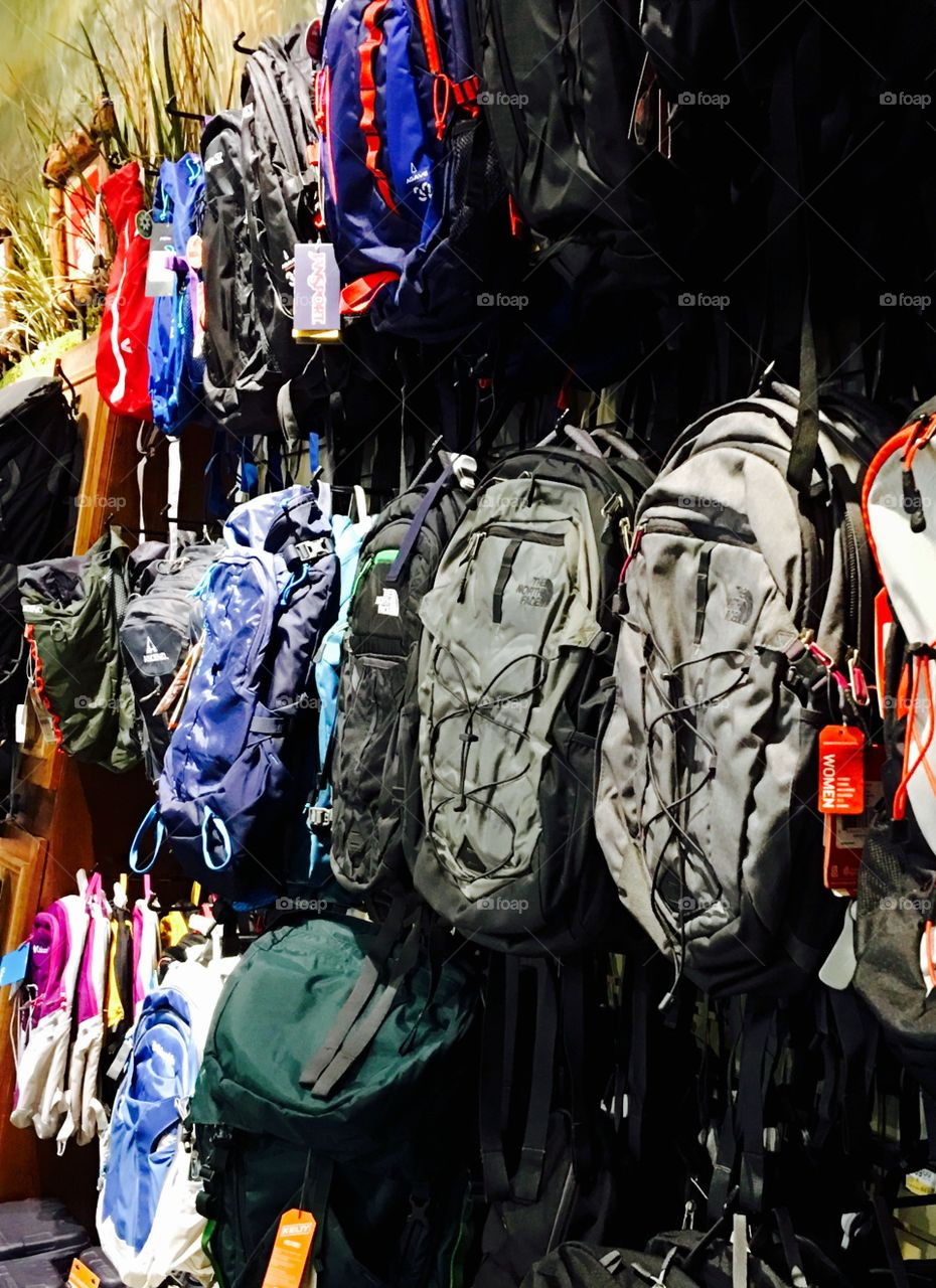Backpacks Sold At Sporting Goods Store