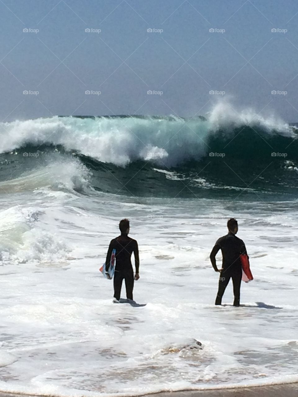 Monster Waves. Monster waves at The Wedge in Newport Beach, California