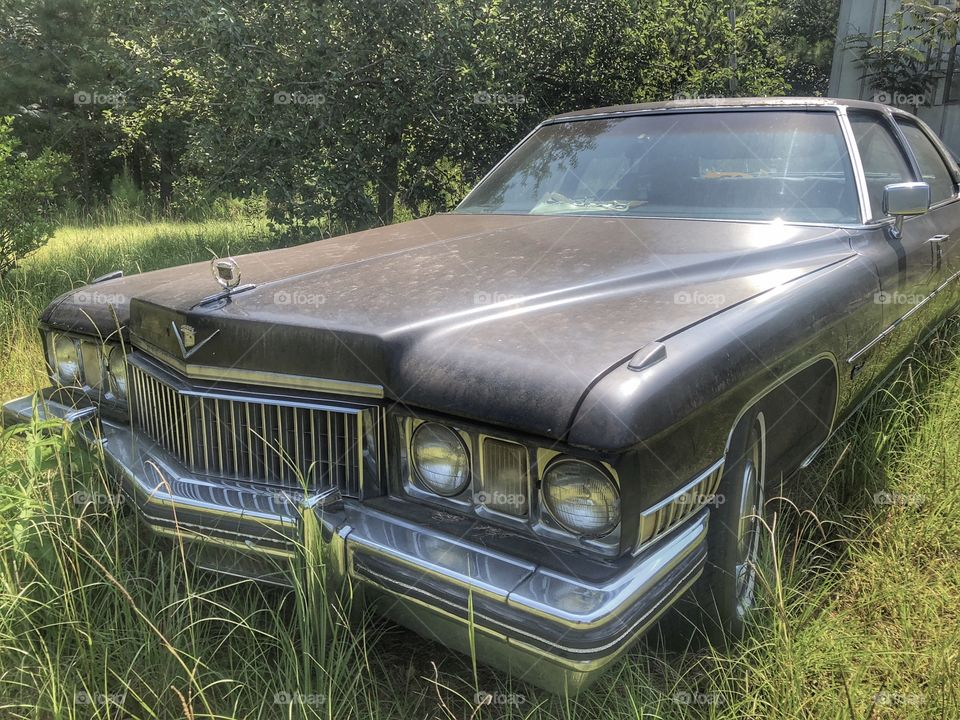 Abandoned 1972 Cadillac Fleetwood Brougham