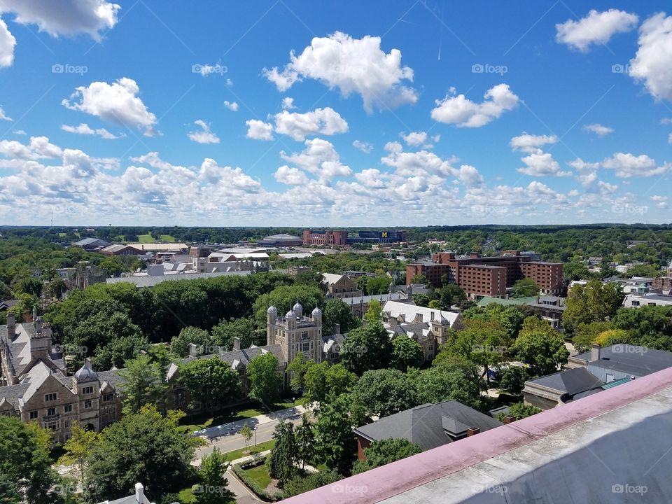 University of Michigan Football Stadium aerial view
