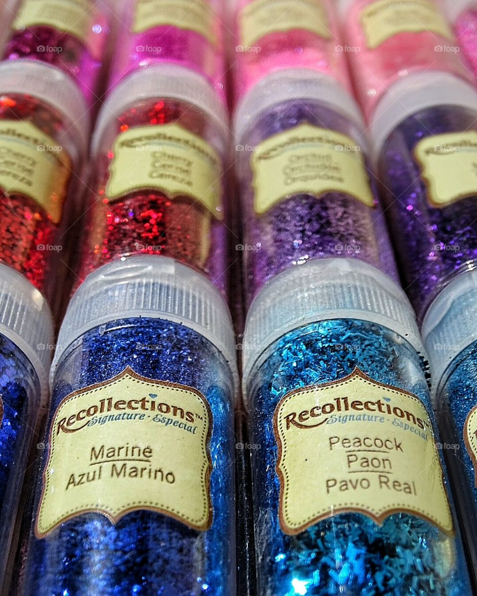 Recollections colorful glitter kit