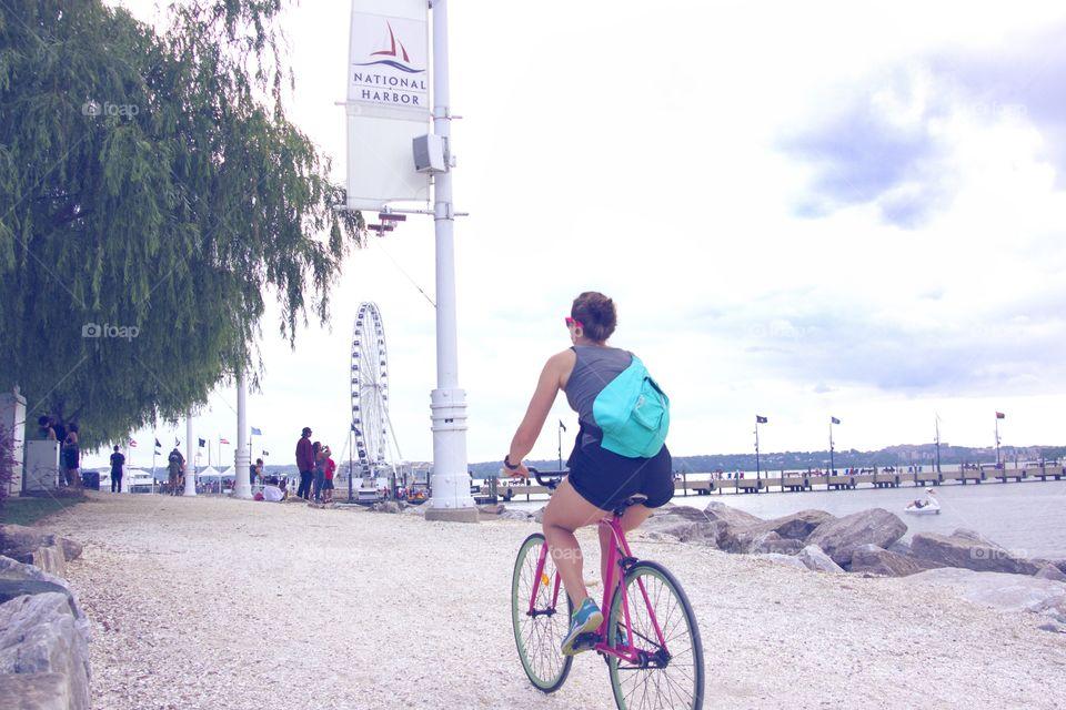 Biking on the Pier