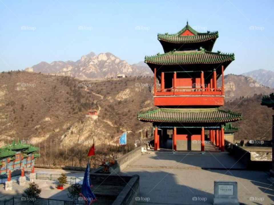 Pagoda like structure near Great Wall of China
