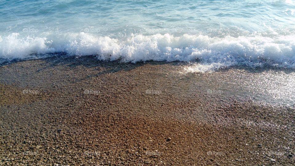 Sea wave, Golden Horn beach, Bol island Brac