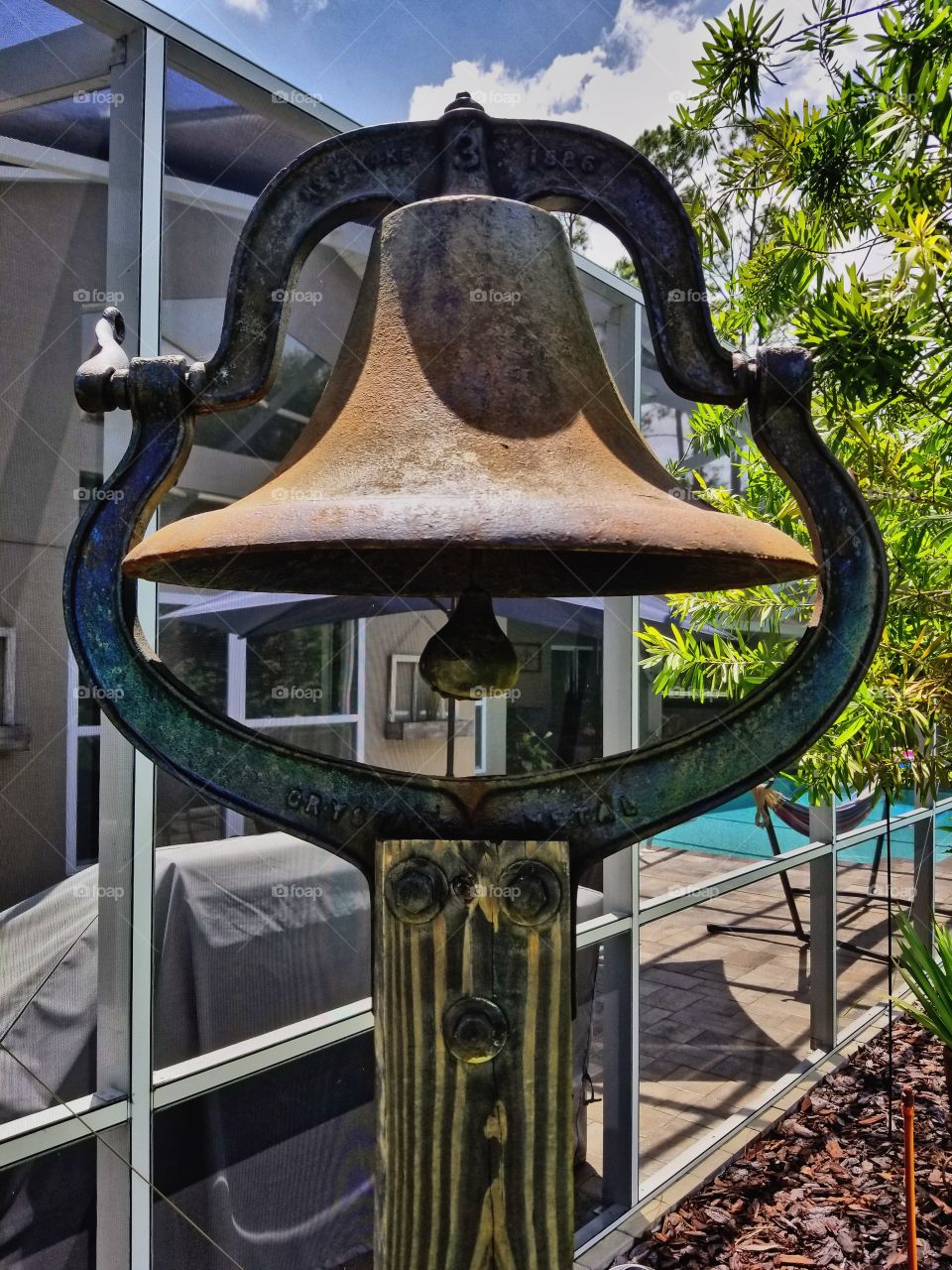 Old historical bell made in 1886