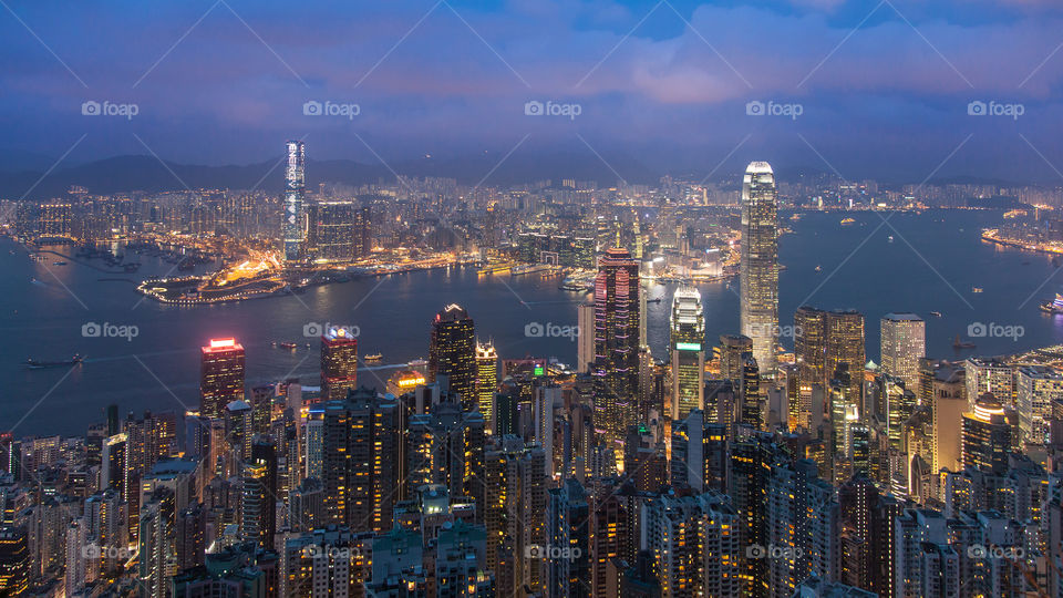 Hong Kong Night Scene from the