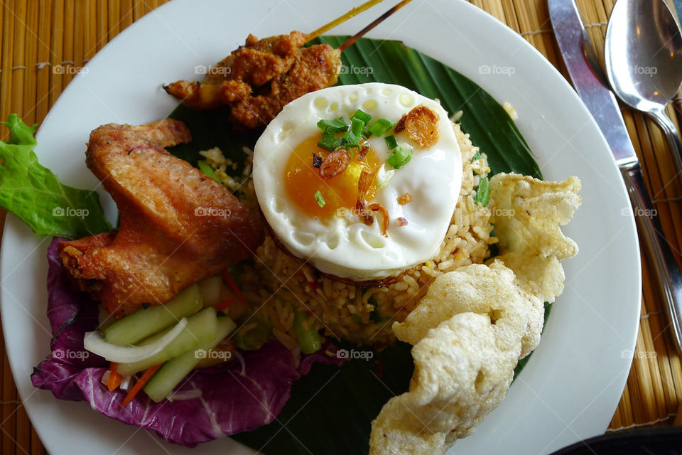 food rice egg chicken by paullj