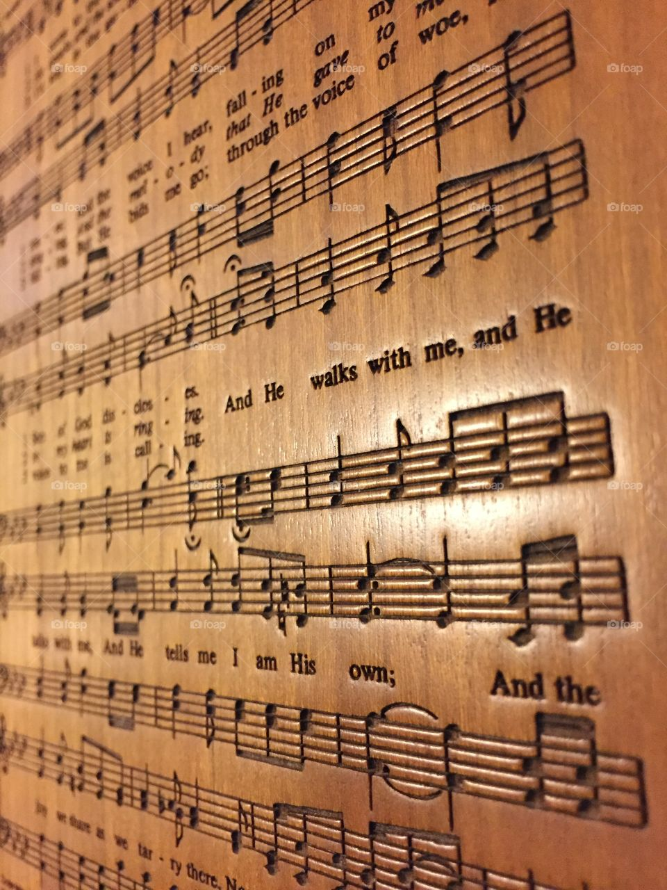 Engraved music