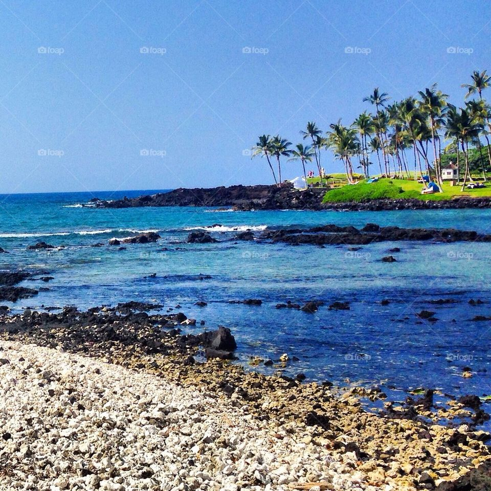 The Blue Ocean and the Black Lava