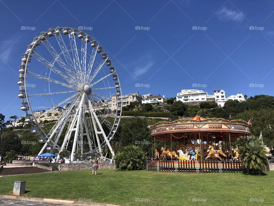 Something for every family member here on Torquay seafront today, August 23rd 2019