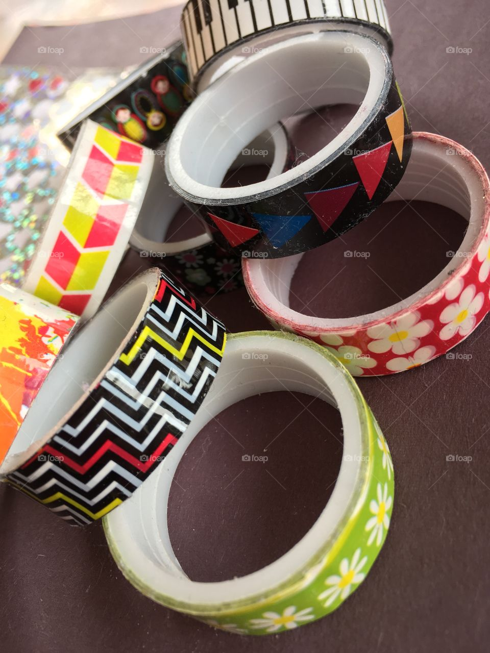 Colourful tape for crafts