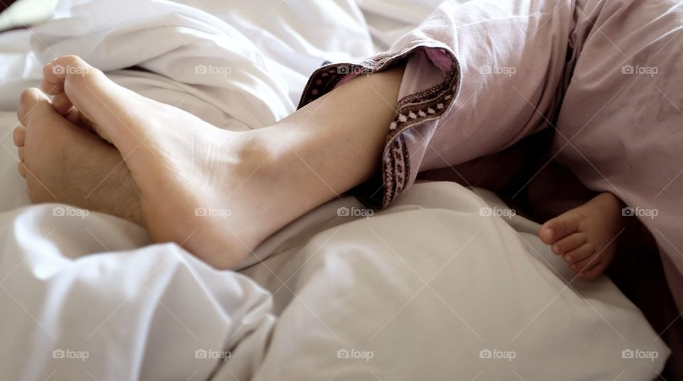 Three beautiful feet