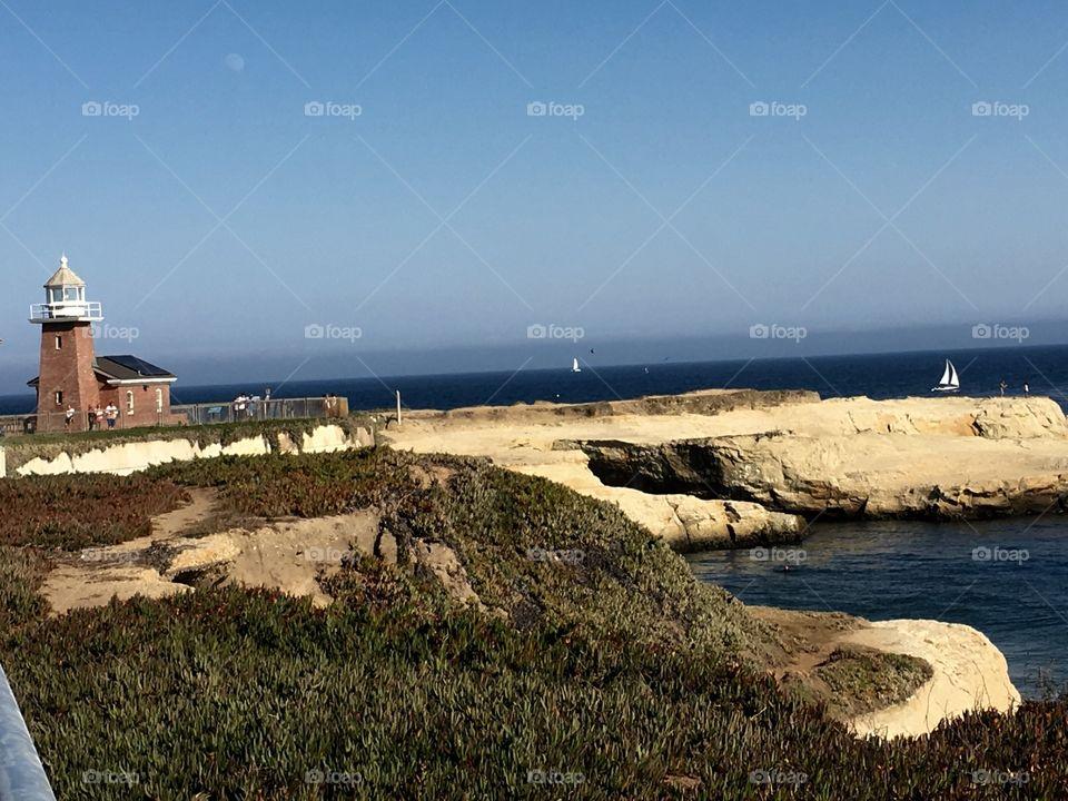 Lighthouse in Santa Cruz.