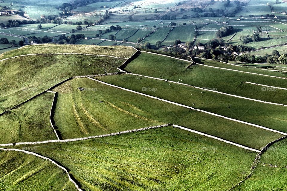 Flying over Yorkshire Dales . Flying over Yorkshire Dales