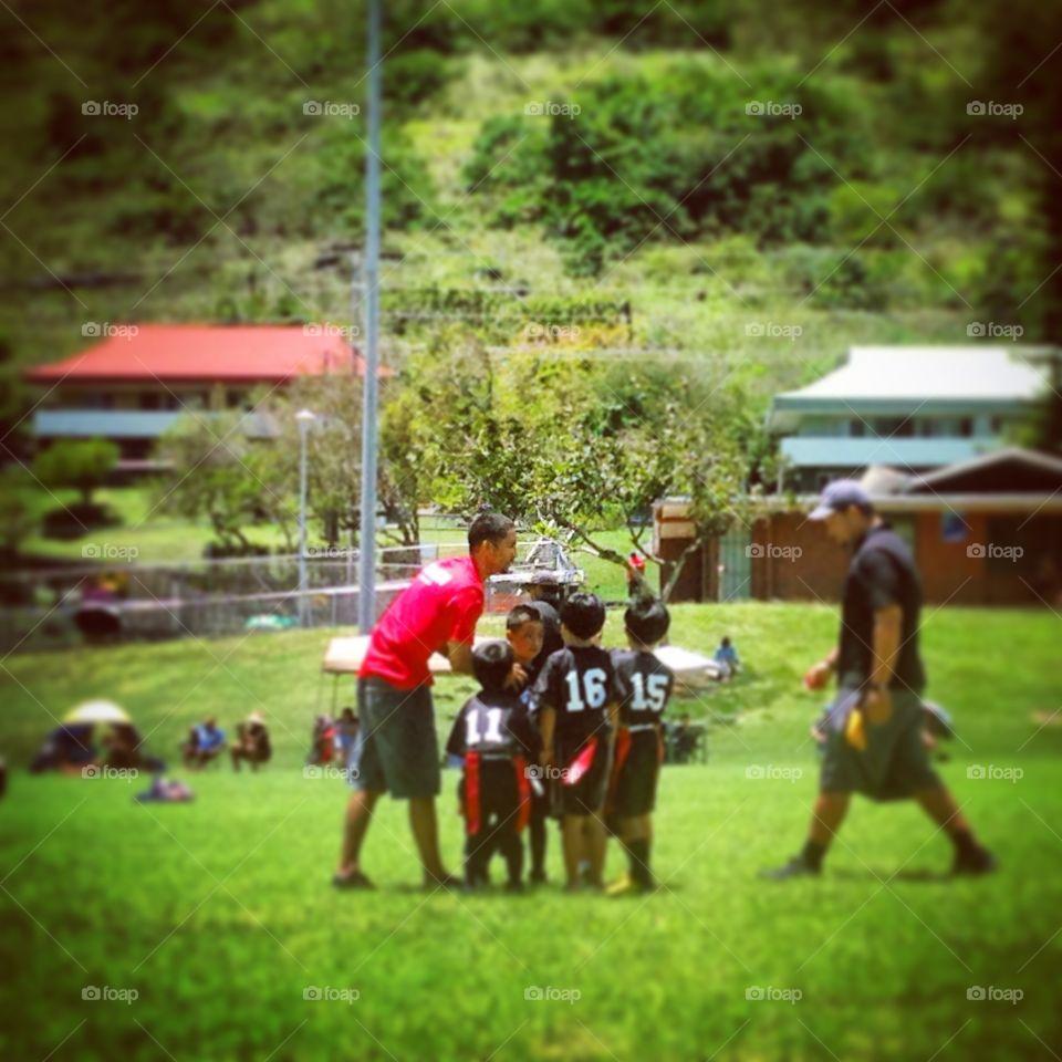 Flag Football Game. Flag Football Game