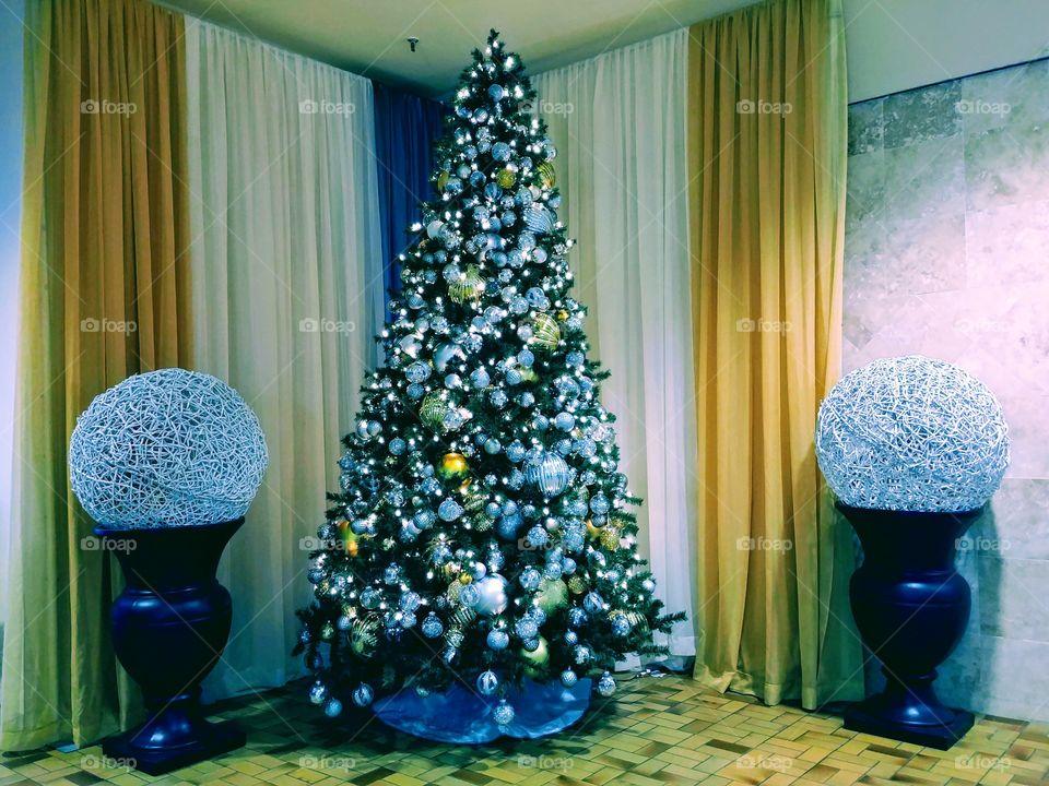 Glorious Christmas Tree Setting.