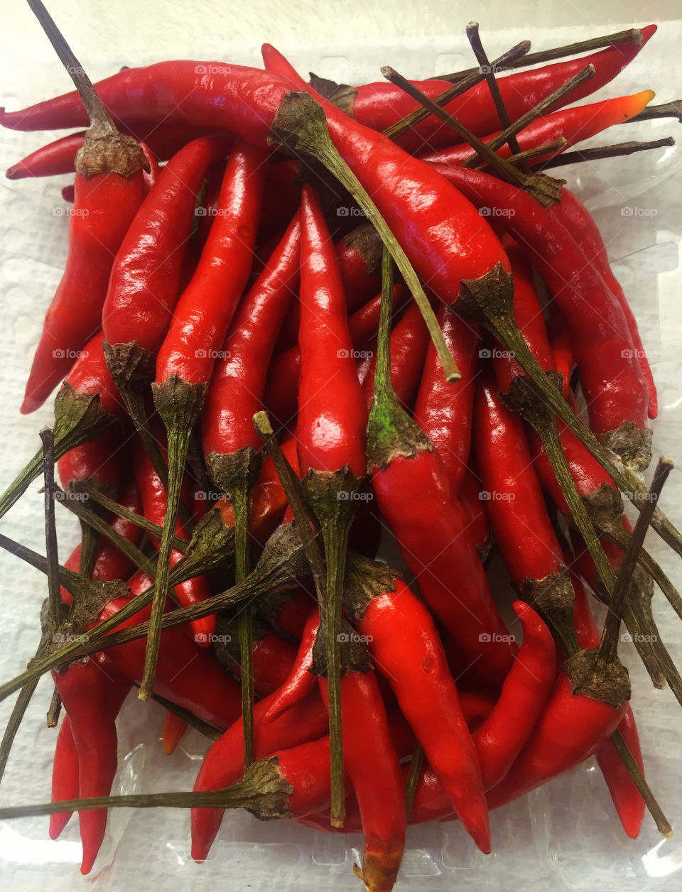 Red Thai chili peppers