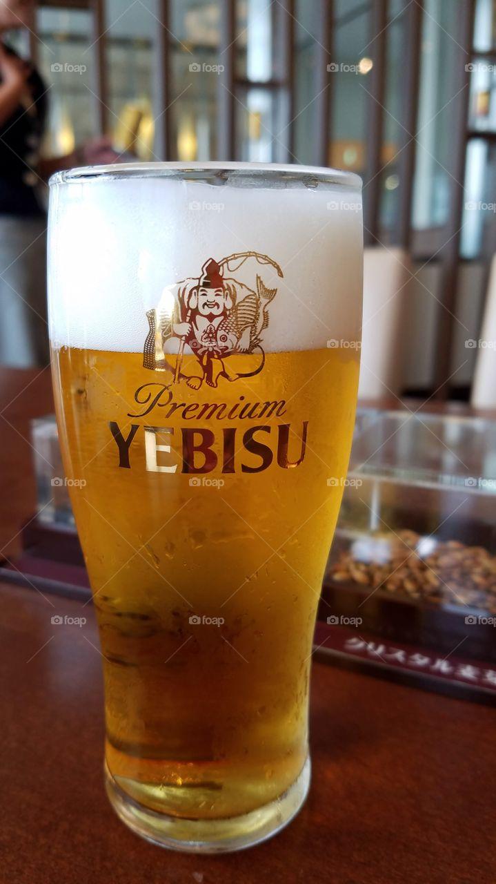 Yebisu Japanese draft beer