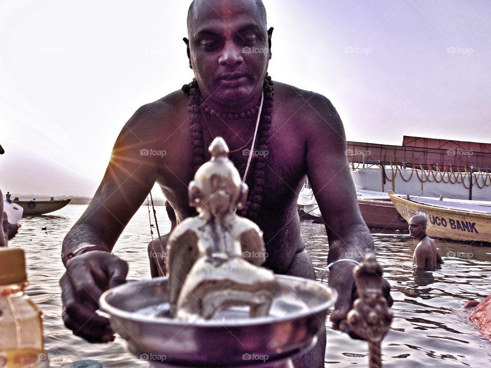 River Ganges religious festival, Varanasi, india . River Ganges religious festival, Varanasi, india