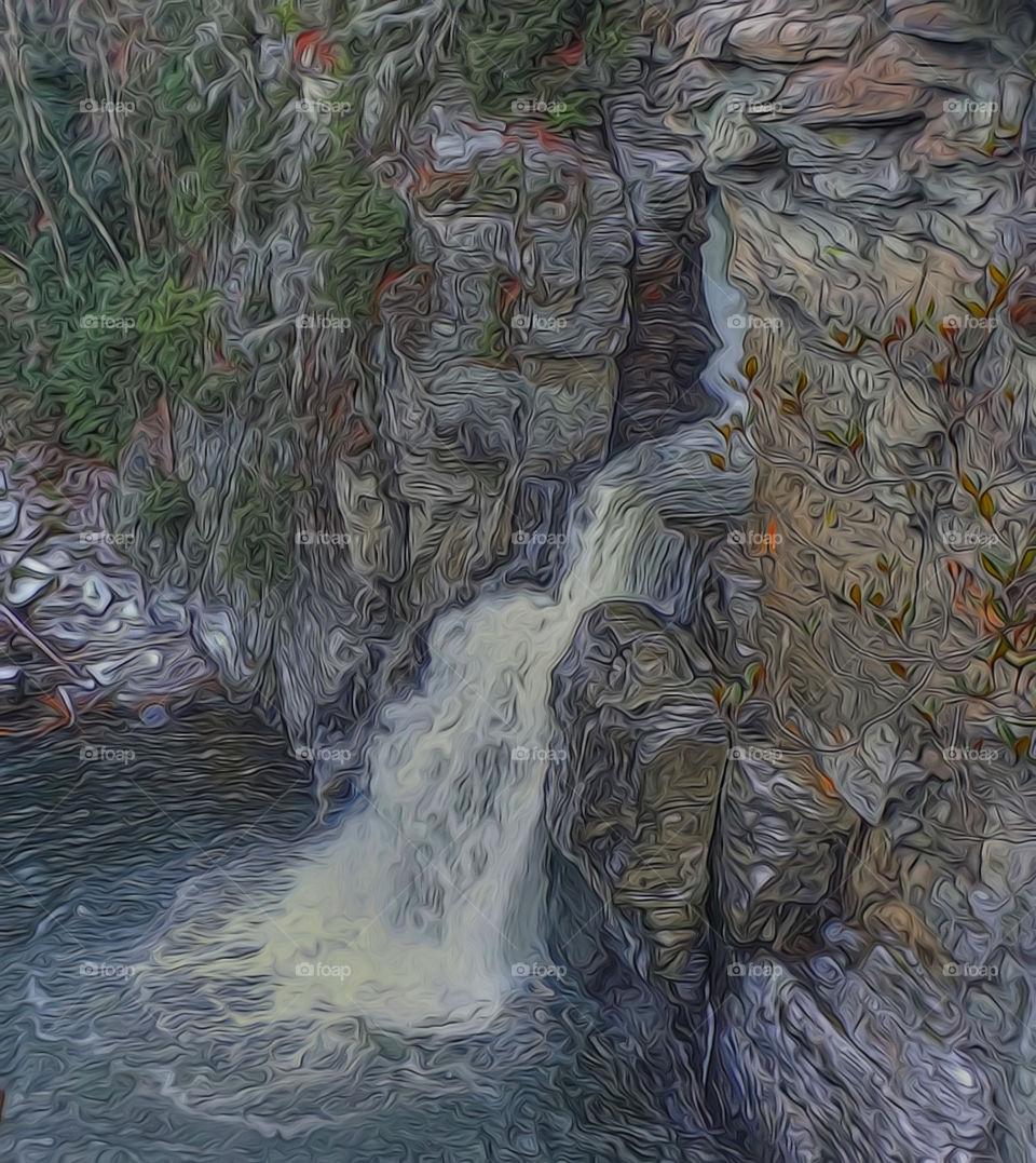 Linville Falls stylized