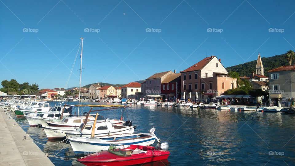 Stari Grad on island Hvar in Croatia, the center of the town.