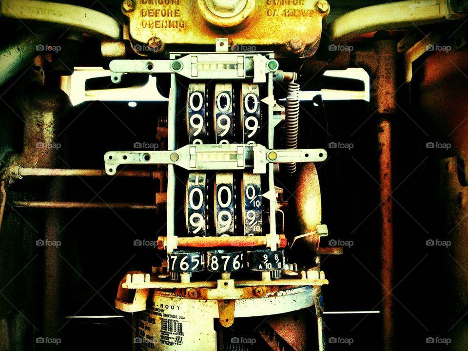 Obsolete Gasoline Meter