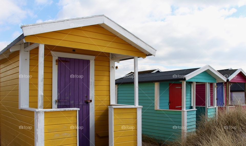 Beach huts in Skanör, Sweden