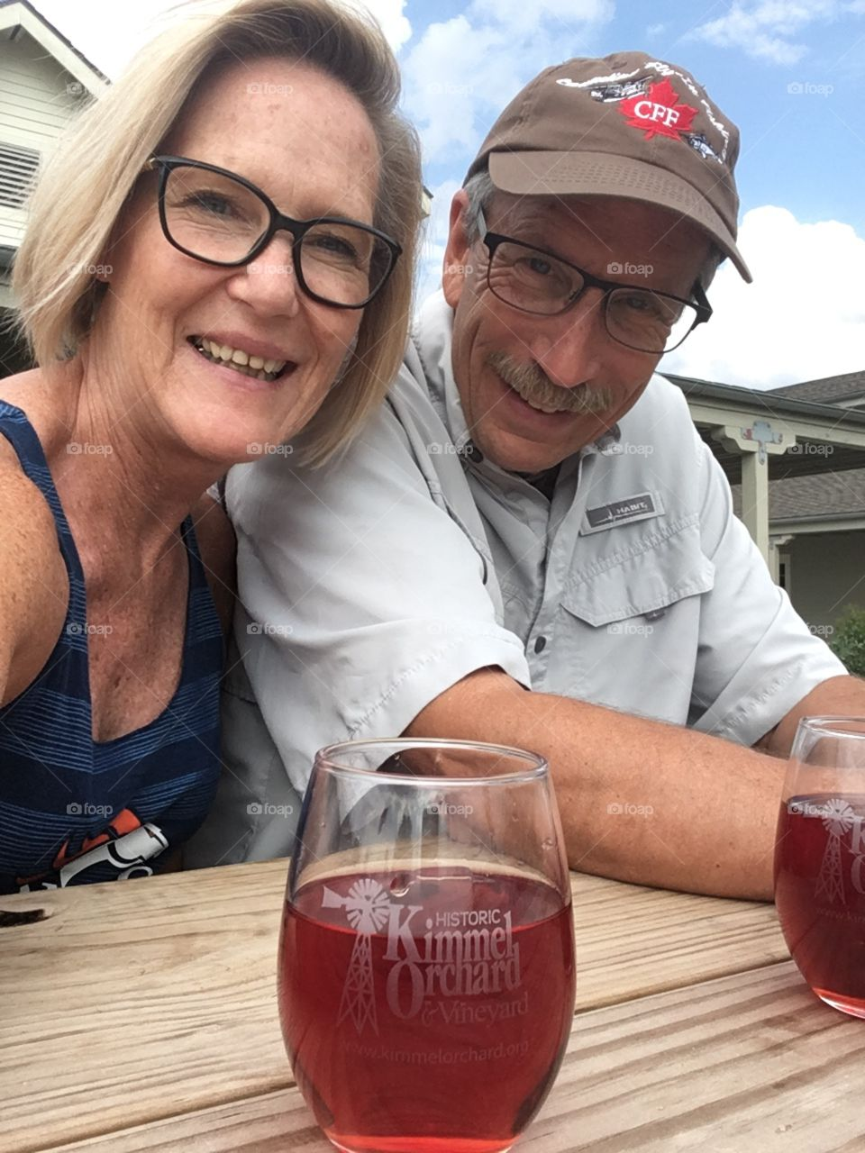 Empty nesters at a winery
