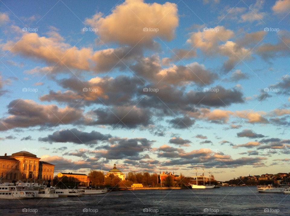 sky sweden spring stockholm by ninetta