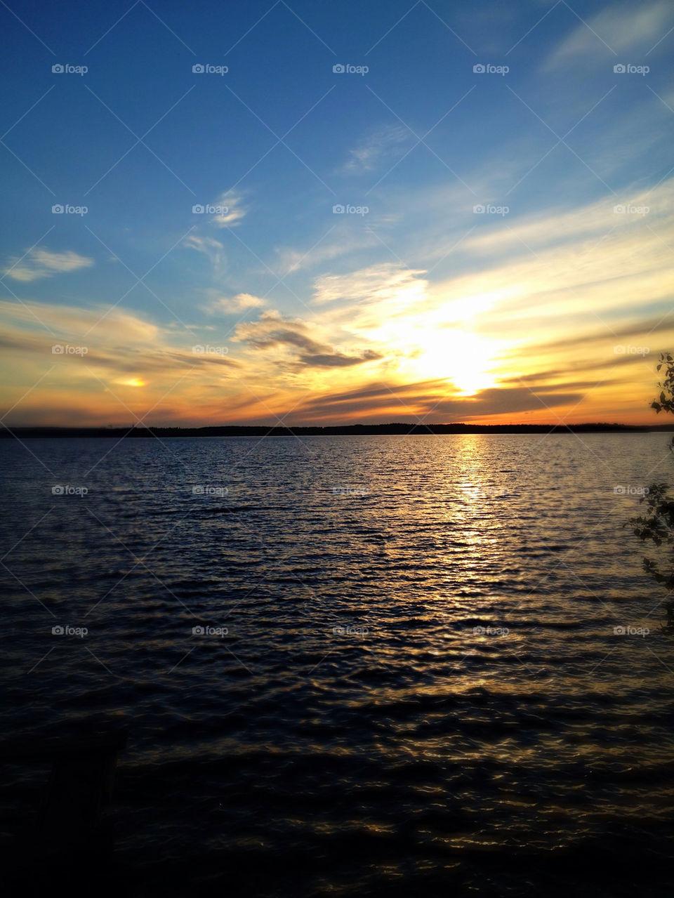 sky sunset sun water by kekejari