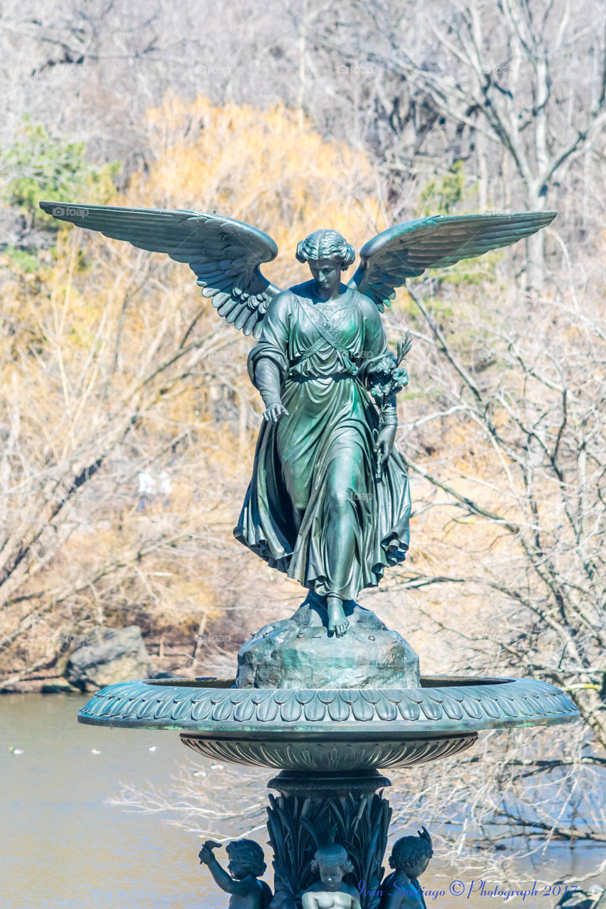 Bethesda Fountain statue Central Park NYC