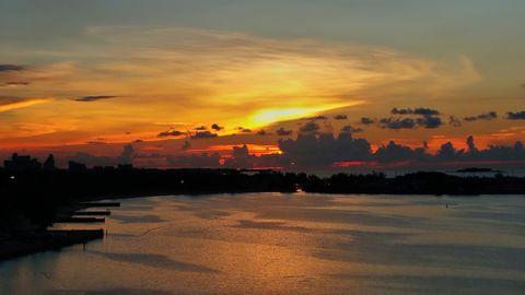 Amazing sunset over Nassau's Bahama's