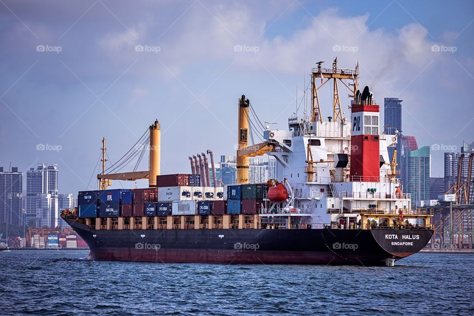 A Container Vessel