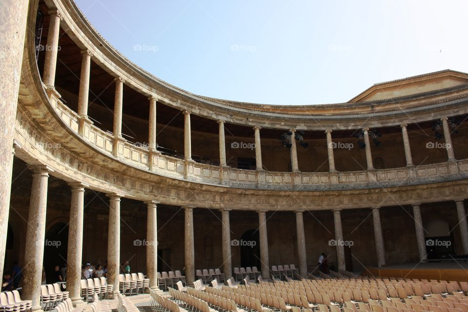 Open air concert and theatre hall at Alhambra palace, Spain
