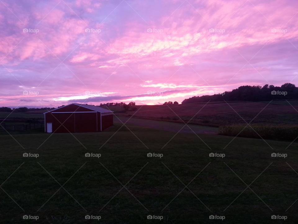MI Fall Sunset