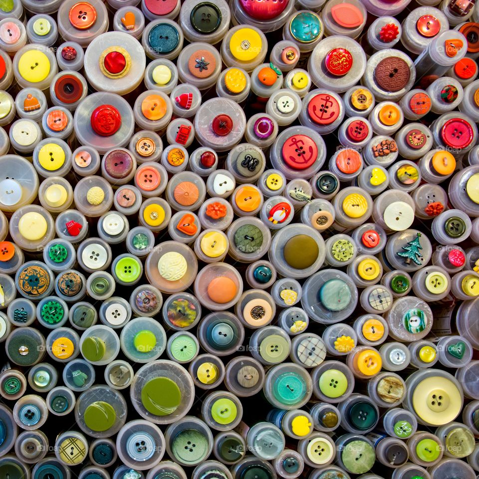 Abstract colourful background of buttons